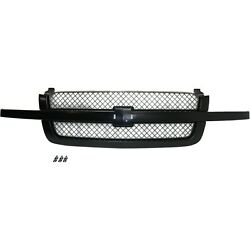 Grille Assy Paint To Match With Gray Insert For 2003-07 Chevy Silverado Old Body