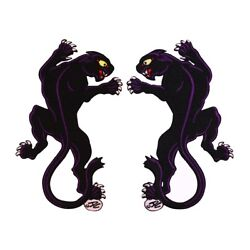 Set of 2 Black Panther Patch Jungle Cat Collins Embroidered Iron On Applique