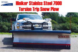 HINIKER 9' HD SS stainless steel torsion trip edge snow plow fit CHEVY GMC GM