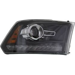 Headlight For 2013 2014 2015 Ram 1500 Right Black Housing With Bulb