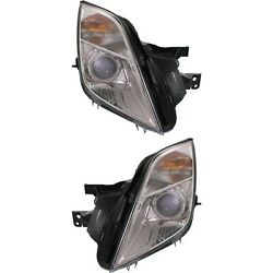 Headlight Set For 2010-2011 Mercury Milan Left And Right With Bulb 2pc