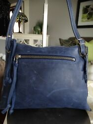 ROOTS TRIBE LEATHER CROSS BODY BAG