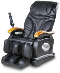 Black Faux Leather Reclining Massage Chair LCD Remote Control Home Furniture New
