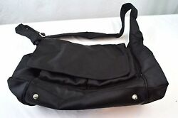 Pottery Barn Kids Diaper Bag Messenger Crossbody Shoulder Bag Tote Black NWOT