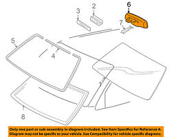 TOYOTA OEM 05-06 Tacoma Inside-Rearview Rear View Mirror 87810AC050