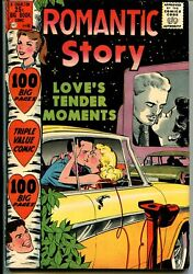 Romantic Story 40 1958-charlton-100 Pages-drive-in Theater-fn/vf