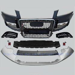 RS5 Style Unpainted Front Bumper With Grille For Audi A5 S5 2008 09 10 11 2012