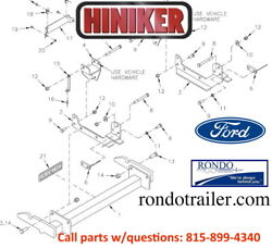 New Hiniker Plow Mount Original Quick Hitch Fits Most Fords