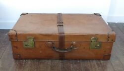 Vintage  Leather Suitcase Large Size