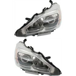 Headlight Set For 2013-2015 Nissan Altima Left And Right With Bulb Capa 2pc
