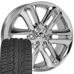 22 Wheel Tire Set Fit Ford F150 Style Chrome Rims Ironman 3918