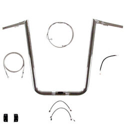 1 1/4 Chrome 19 Twin Peaks Handlebar Kit For 2017 And Up Harley Road Glide W/abs