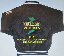 37th Tactical Fighter Wing Vietnamphu Cat Air Base 2-sided Satin Jacket