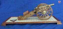 Zhl Cannon Of Napoleonand039s Time Scale 1/20 Wooden Model Kits