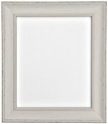 Scandi Distressed Ivory Grey Photo Picture Frames Available In 37 Sizes