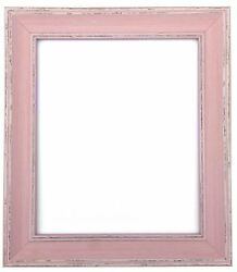 Scandi Distressed Pink Photo Picture Frames Available In 37 Sizes