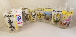 Lot Of 8 1975-1982 75 76 77 78 79 80 81 82 Preakness Stakes Collectible Glasses