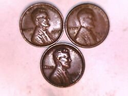 1925, 1926s, And 1926d Lincoln Wheat One Cent Coins Nice