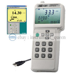 Tes-1381k Conductivity And Ph/orp Meter Mv Tds Resistivity Salinity Concentration
