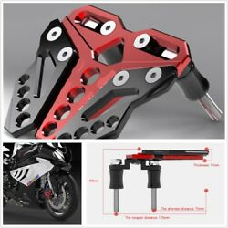 CNC Alloy Front Disc Brake Reservoir Pump Cover Motorcycle Accessories Red+Black