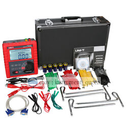 Uni-t 523a Earth Ground Resistance Voltage Soil Resistivity Tester Meter Rs232