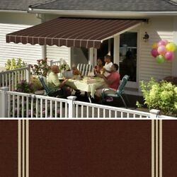 Sunsetter Retractable Awning Almond Color Frame Mocha 3959 Fabric. 8and039 Wide.