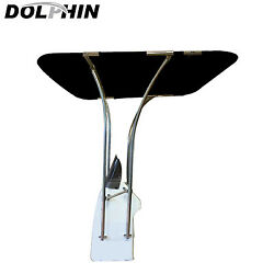 Dolphin Adjustable Basic Boat T Top 1and039and039 Strong Stainless Frame Bimini T Top
