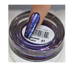Cre8tion Nail Art Effect Chameleon Flakes 0.5g *Pick You Colors*
