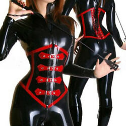Women Latex Corset Thickness 1.0mm Underbust Cincher For Rubber Catsuit Clubwear