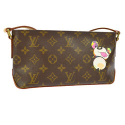 AUTHENTIC LOUIS VUITTON TROTTEUR CROSS BODY SHOULDER BAG MONOGRAM PANDA BT15398