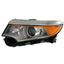 Headlight For 2011-2014 Ford Edge Se Sel Limited Models Left With Bulb