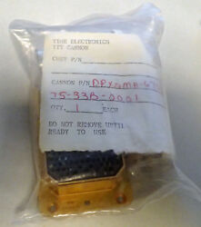 Mil Specaircraft Itt Cannon / Time Electronics Dpx2ma-67s67s-33b-0001 New