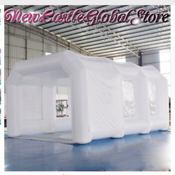Custom Made White Portable Giant Inflatable Spray Paint Painting Booth Pop Up