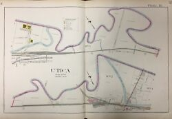 1907 Utica And Capron Ny Oneida County Mohawk River, Erie Canal, Atlas Map