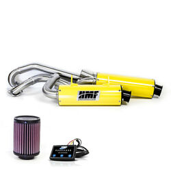 Hmf Can-am Renegade 500 2013 - 2015 Yellow/blk Dual Full Exhaust And Efi Kandn