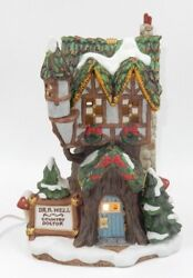 Fitz And Floyd Holiday Hamlet Doctor's House Lighted Ceramic Christmas Ornament
