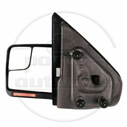 Driver Side Mirror Black For 04-14 Ford F150 Power Heated Signal Puddle Light