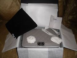 AUTH NEW CHANEL HANDBAG BAG BOY OLD LARGE GRAY RUTHENIUM HARDWARE RECEIPT