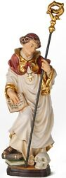 Statue Saint Bruno With Skull - St. Wood-carved Statue