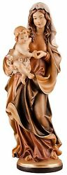 Statue Madonna With Child Colors Ancient - Our Lady Ancient Style