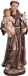 Statue Inch Saint St Anthony In Wood - Woodcarving St.anthony Statues