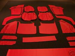 Beautiful Deluxe Sierra Red Leather Mg Tf Mgtf 1250 1500 Interior Kit New