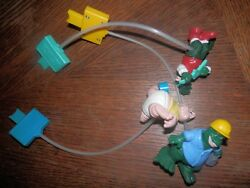 Rare 1991 Sinclair Disney's Tv Show Dinosaurs 3 Action Toy, Lot Of 3