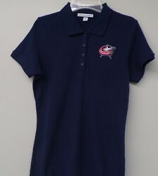 Nhl Hockey Columbus Blue Jackets Ladies Embroidered Polo Xs-6xl New