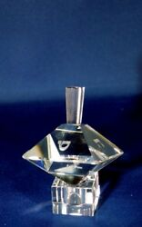 Double Pyramid Crystal Dreidel With Stand , Hebrew Letters 2.5 X 2.5 X 3