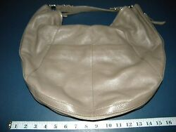 NORDSTROM GRAY LEATHER EXPANDABLE HOBO BAG