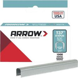 100 Pk Arrow T37 High-performance Round Crown Cable Staple, 9/16 L. 1000-pack
