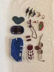Breyer model horse TACK LOT Traditional and Stablemates for play GREAT CONDITION