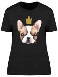 Cute French Bulldog Puppy Crown Women's Tee -Image by Shutterstock