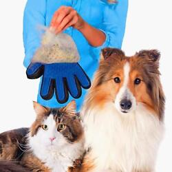 Dog Cat Hair Brush Glove Pet Grooming Cleaning Animal Massage Right Left Hand